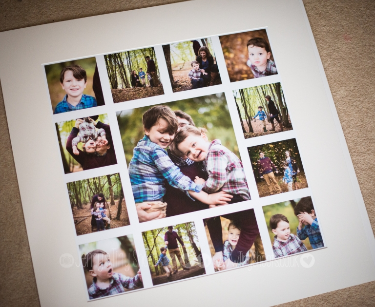 Mounted print montage