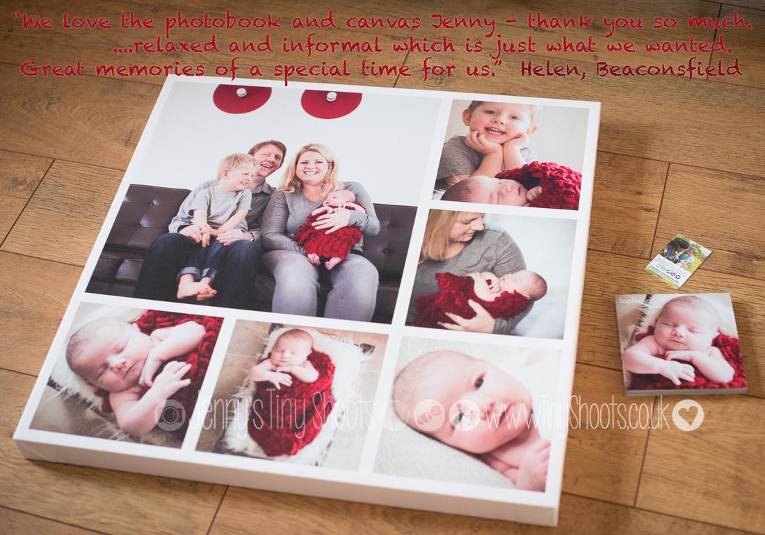 Newborn canvas montage