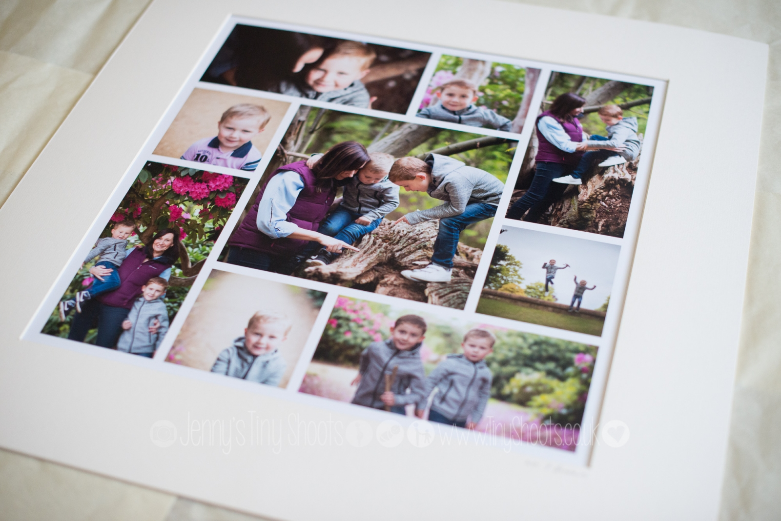 Printed montage ready to frame