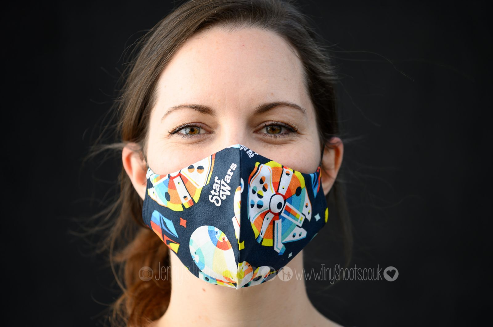 Lady in face mask